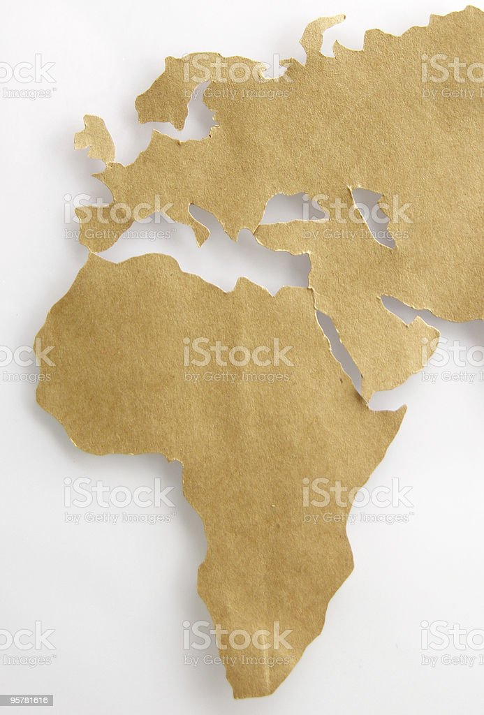Africa, Europe and Middle East stock photo