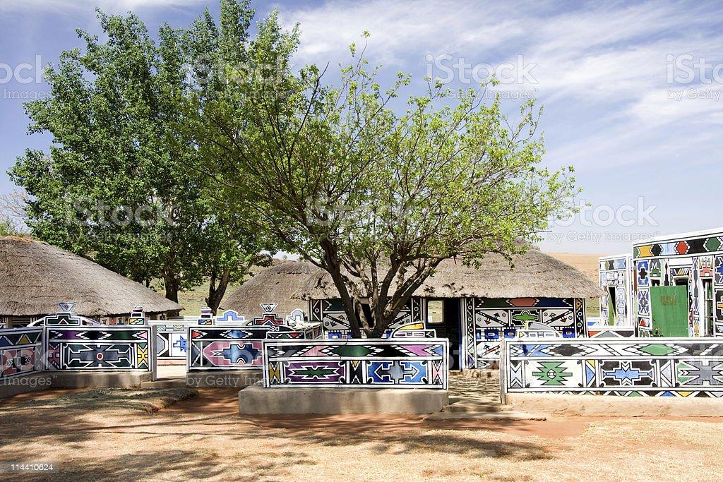 africa hut stock photo