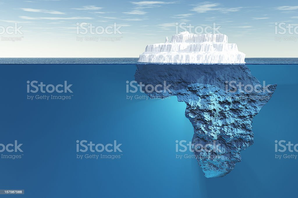 Africa iceberg underwater stock photo