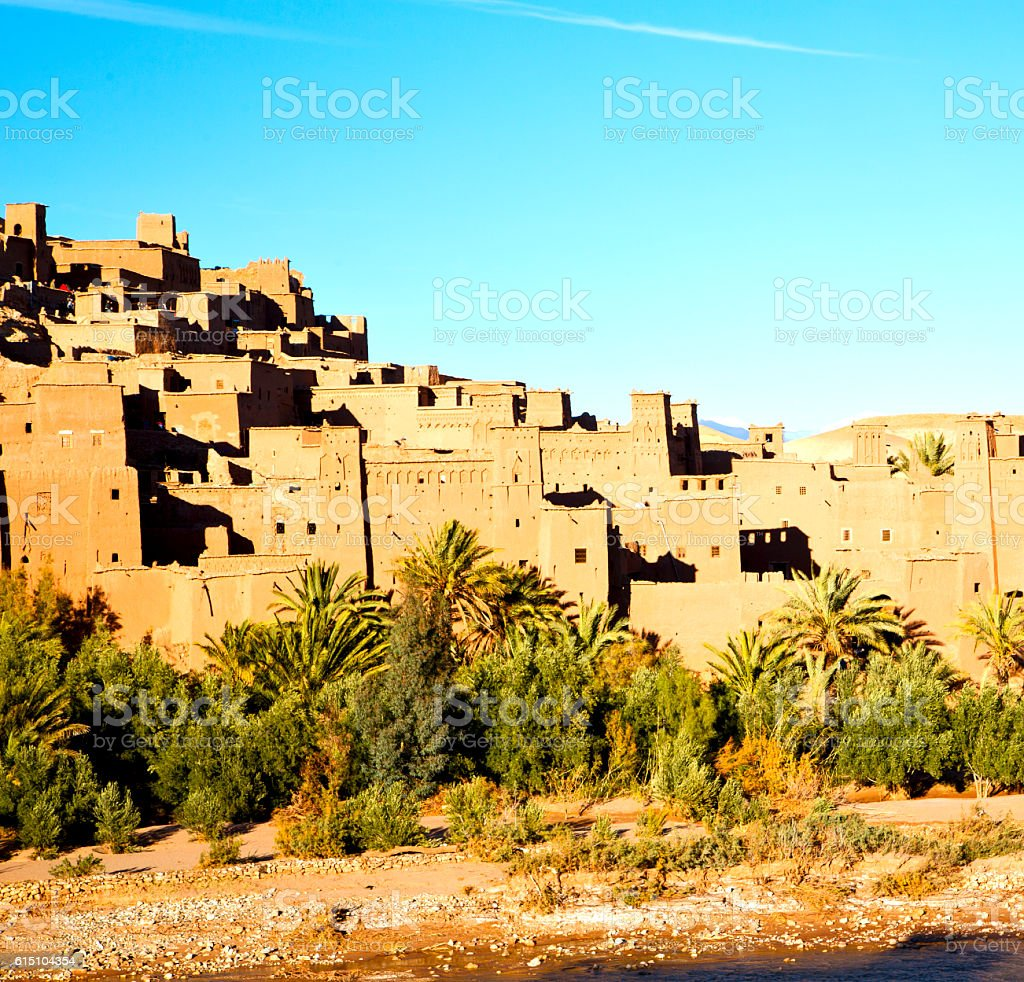 africa in morocco the old contruction and the historical village stock photo