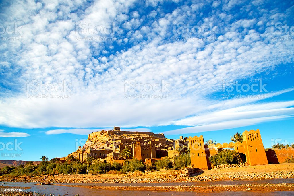 africa in morocco the old river stock photo