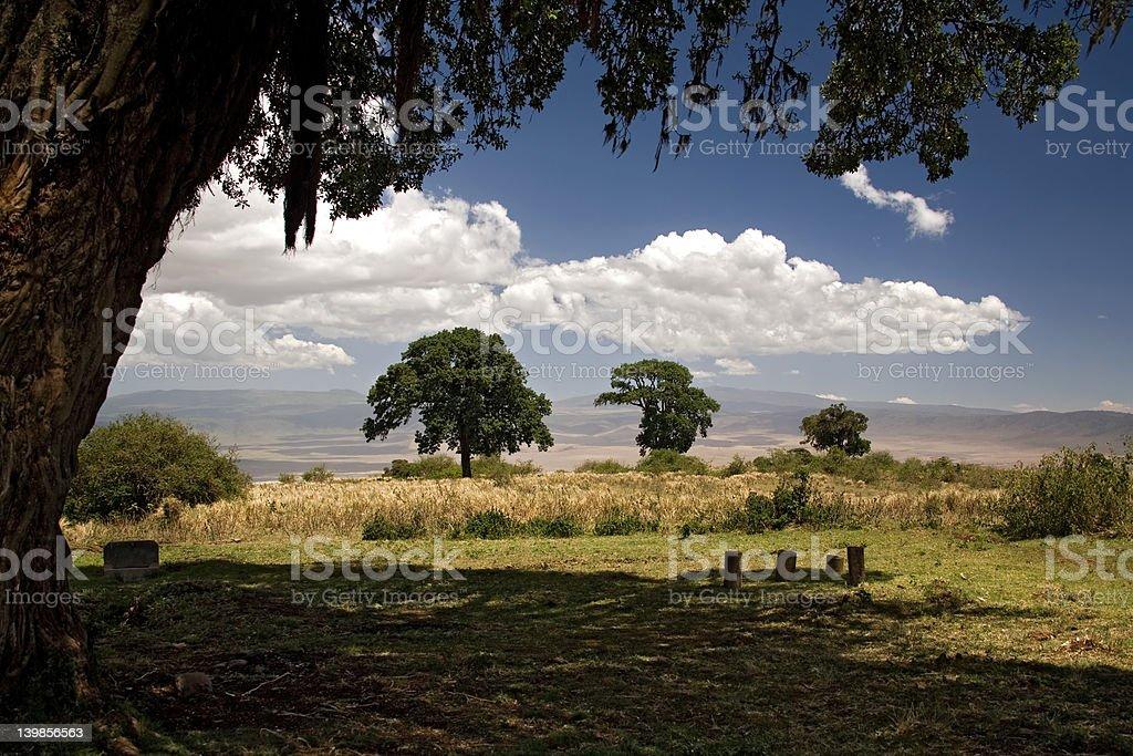 africa landscape ngorongoro royalty-free stock photo