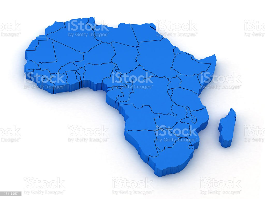 Africa Map royalty-free stock photo