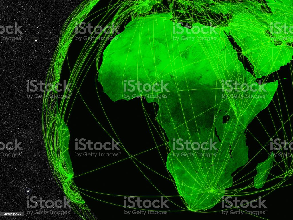 Africa network stock photo