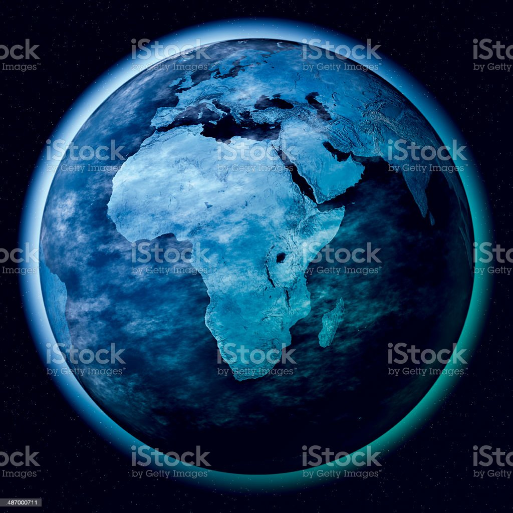Africa Planet Earth Atmosphere Space stock photo