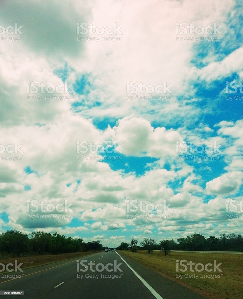 Africa, road, highway, empty, clouds, copy space, lonely, stock photo