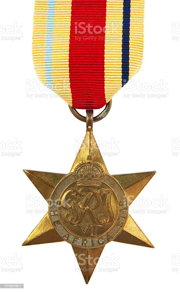 Africa Star Medal royalty-free stock photo