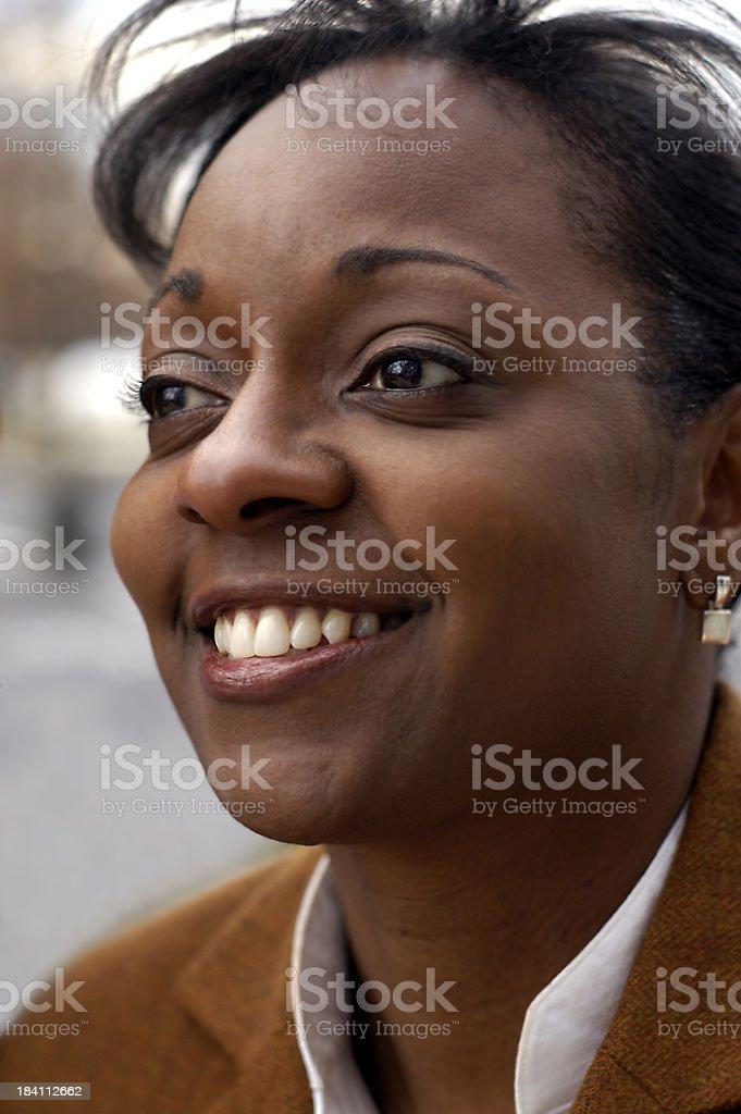 African Amerian businesswoman stock photo