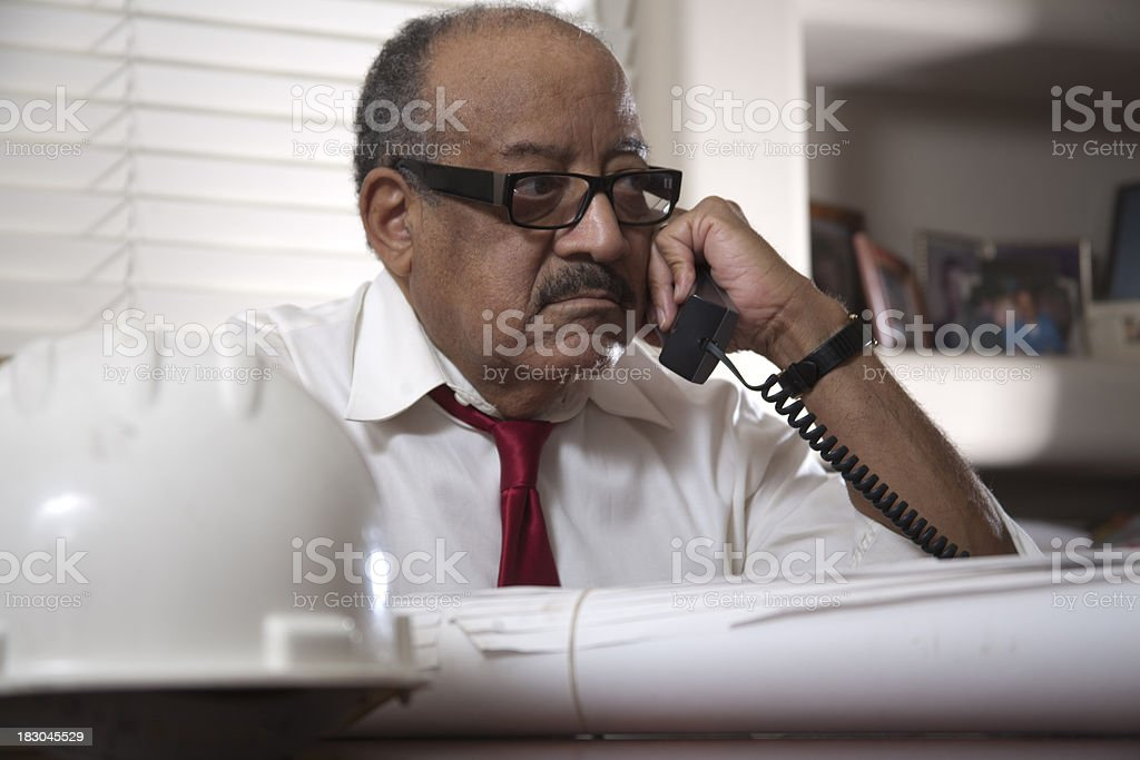 African American Architect at his Desk royalty-free stock photo