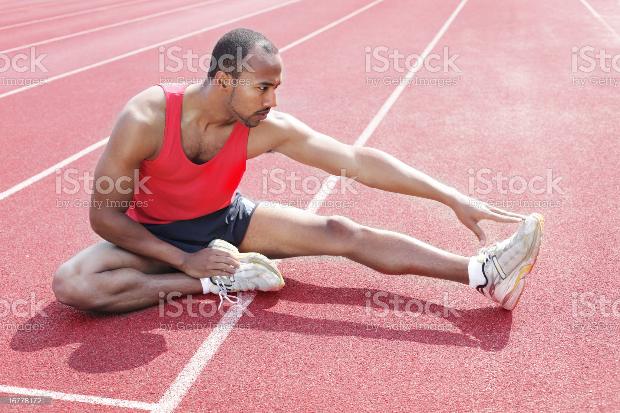 African american athlete royalty-free stock photo