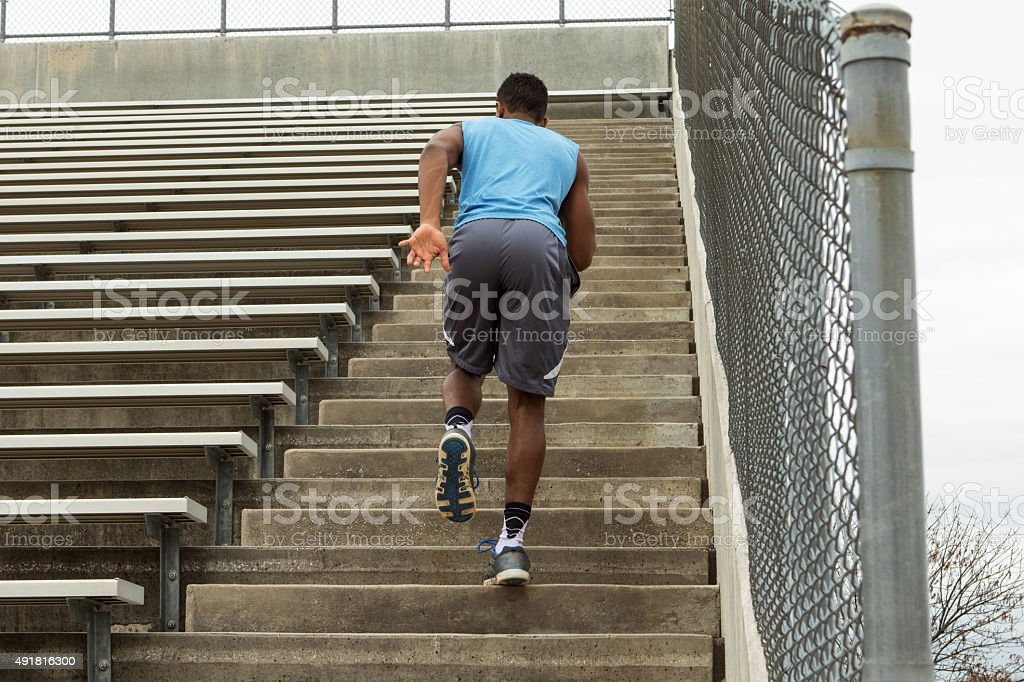 African American Athlete Training stock photo