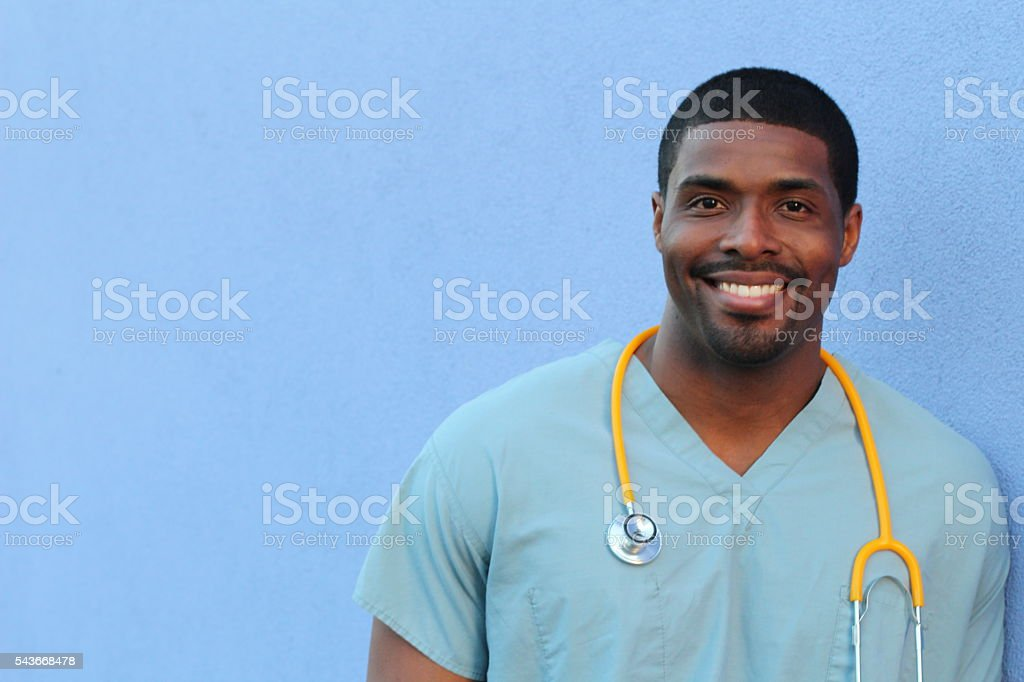 African American black health care professional stock photo