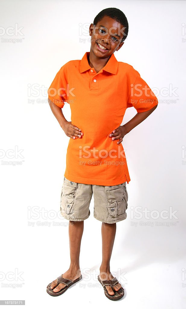 African American Boy Portrait stock photo