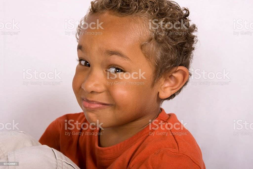 african american boy smiling stock photo