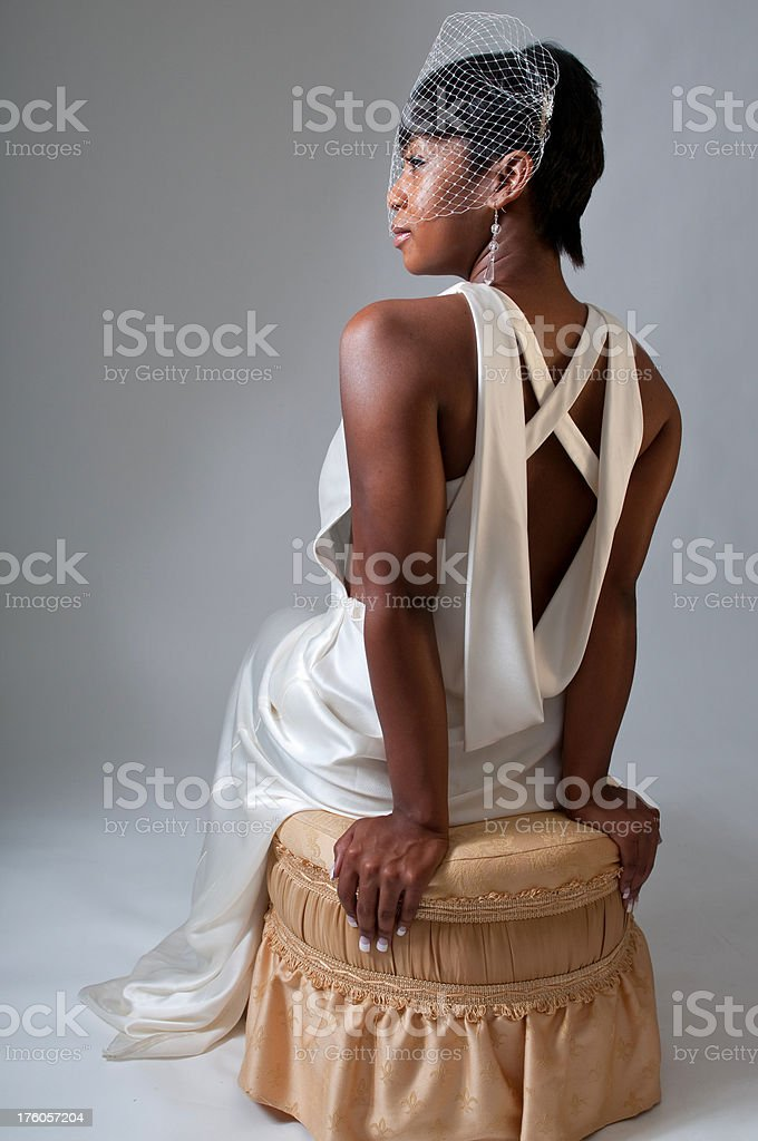 African American Bridal Portrait royalty-free stock photo
