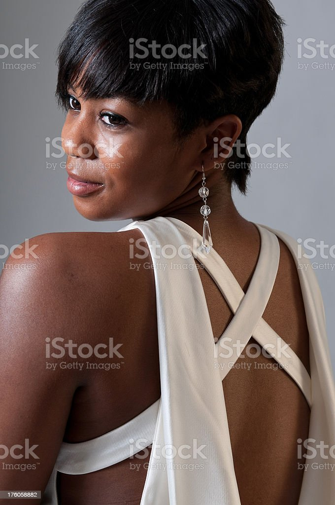 African American Bride royalty-free stock photo