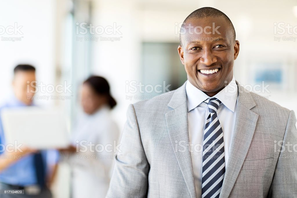 african american business executive stock photo