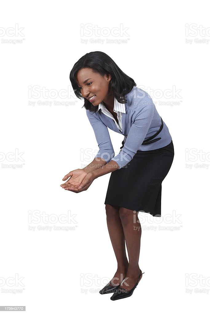 African American Business Woman Bending Over royalty-free stock photo