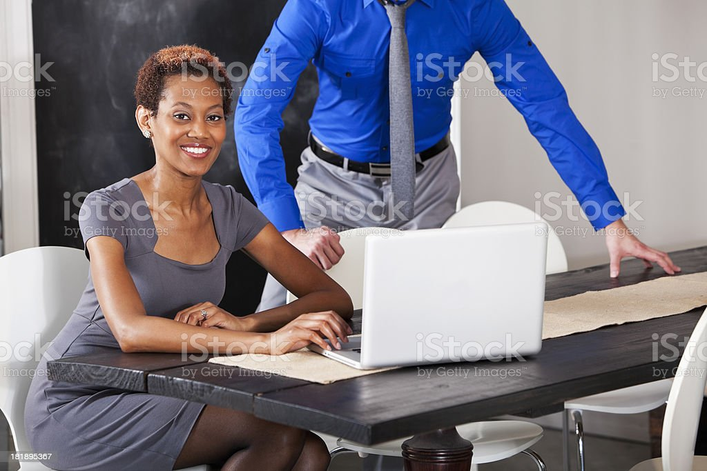 African American business woman royalty-free stock photo