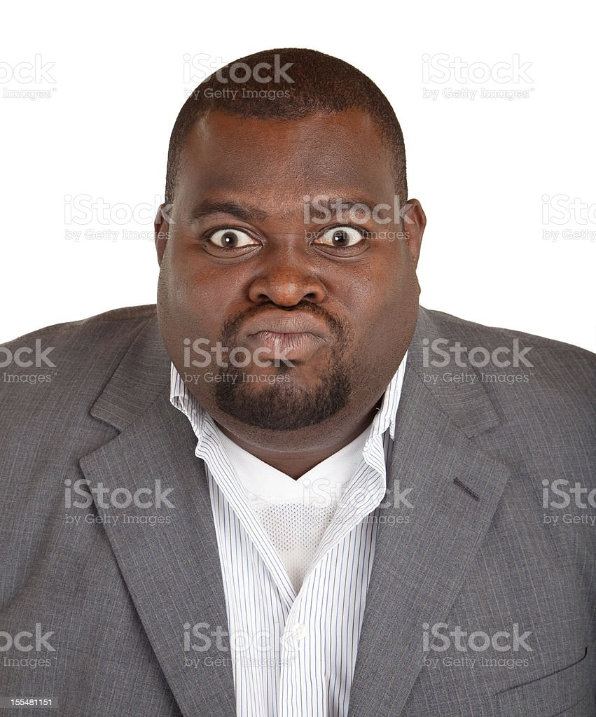 African American Businessman Angry about Something stock photo