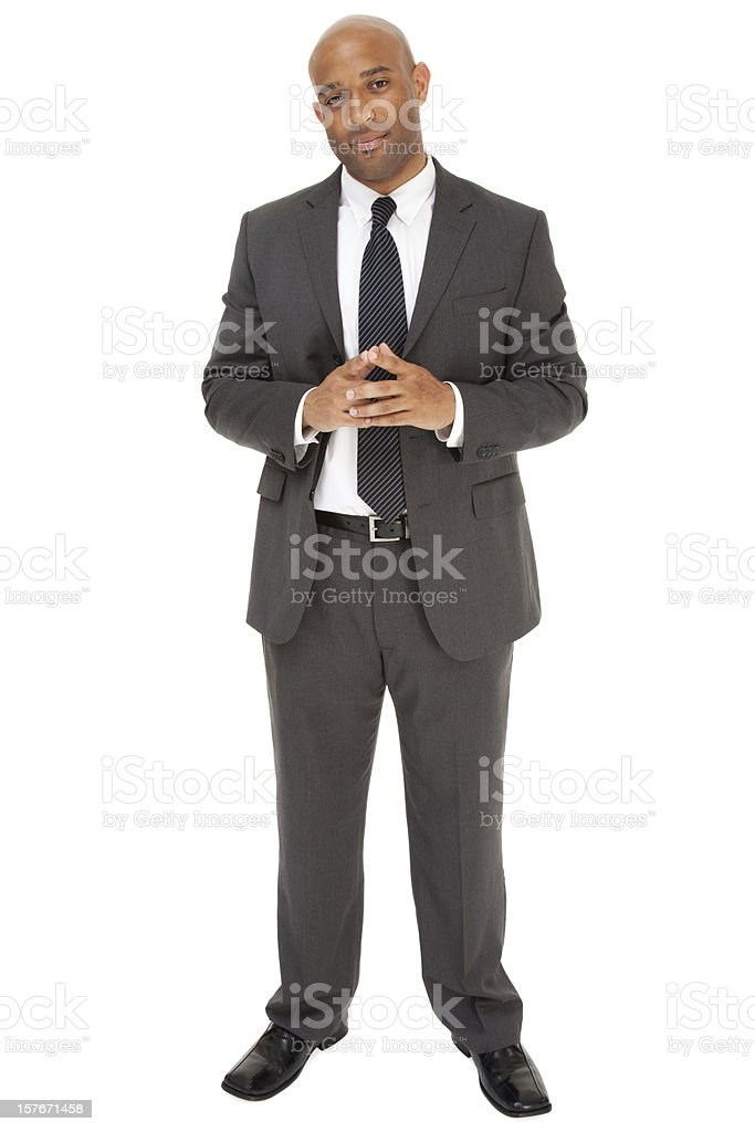 African American businessman in a suit and tie stock photo