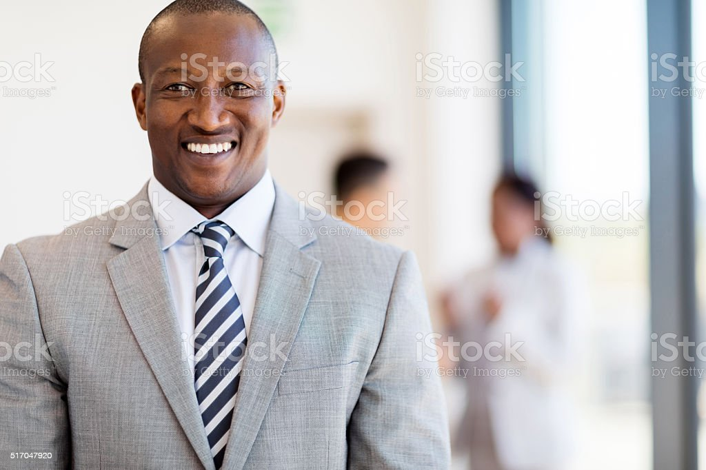 african american businessman in office stock photo