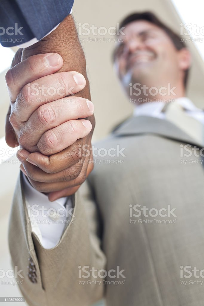 African American Businessman or Man Shaking Hands stock photo