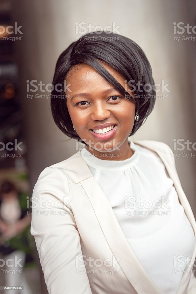 African american businesswoman close up portrait   ,Kyoto,Japan stock photo