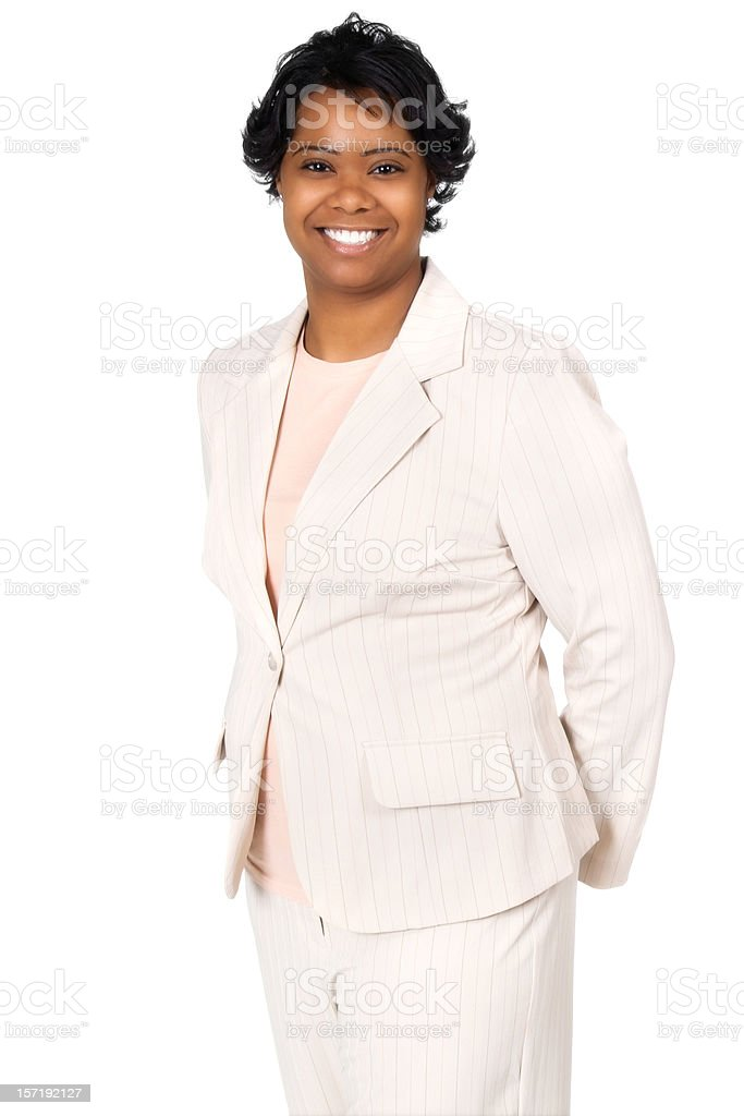 African American Businesswoman with Bright Smile stock photo