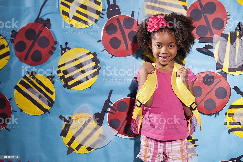 African American child at school royalty-free stock photo