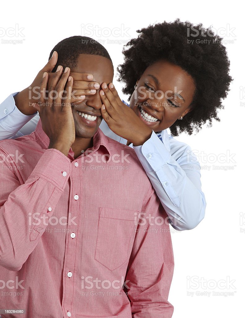 African American Couple in Love royalty-free stock photo