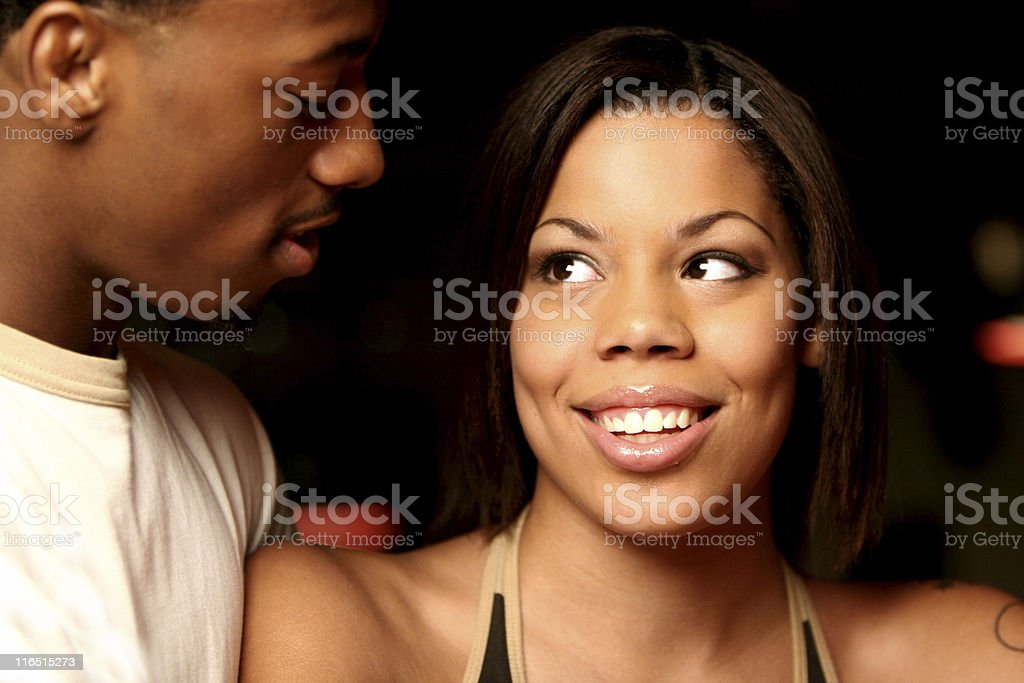 african american couple portraits royalty-free stock photo