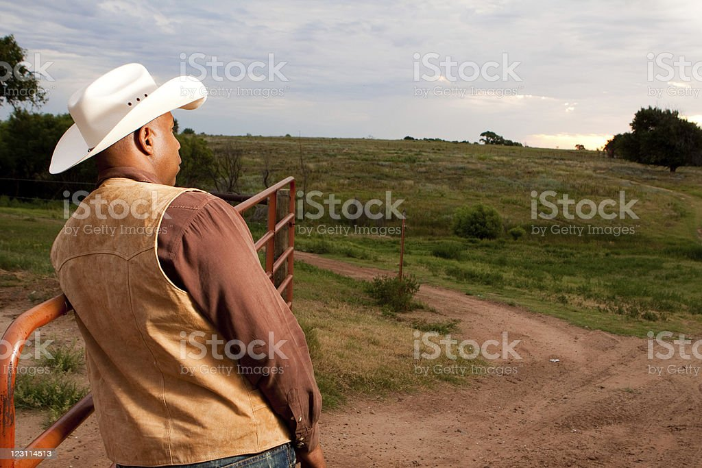 African American Cowboy royalty-free stock photo