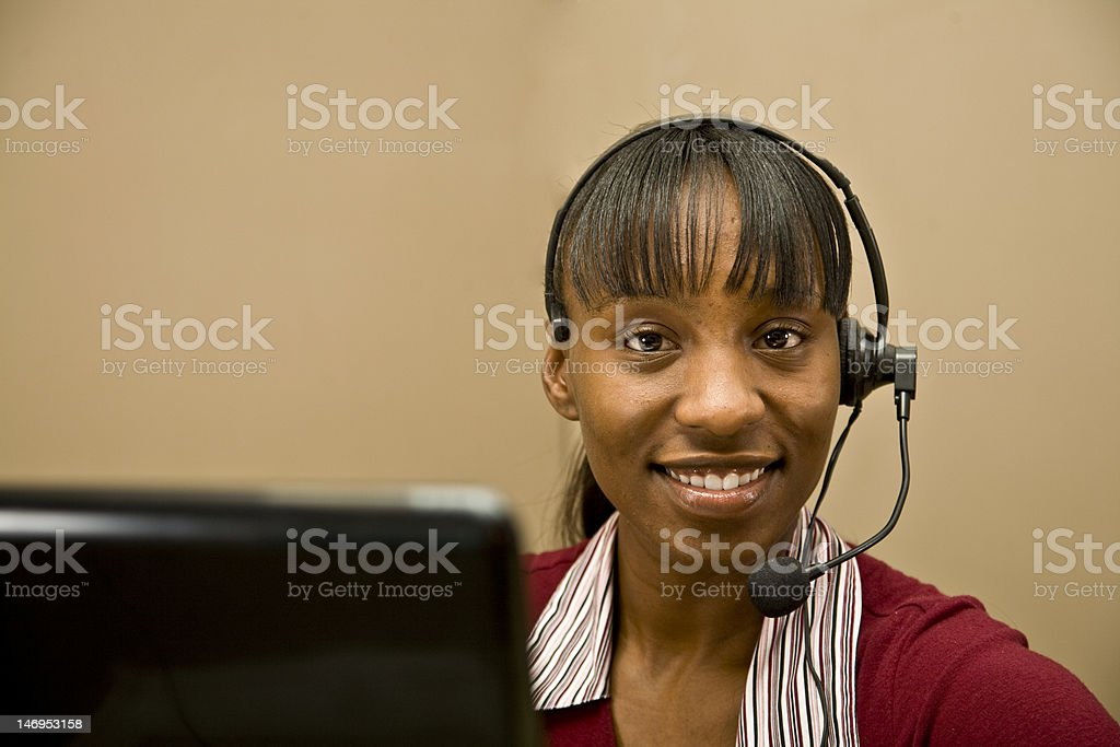 African American Customer Support royalty-free stock photo
