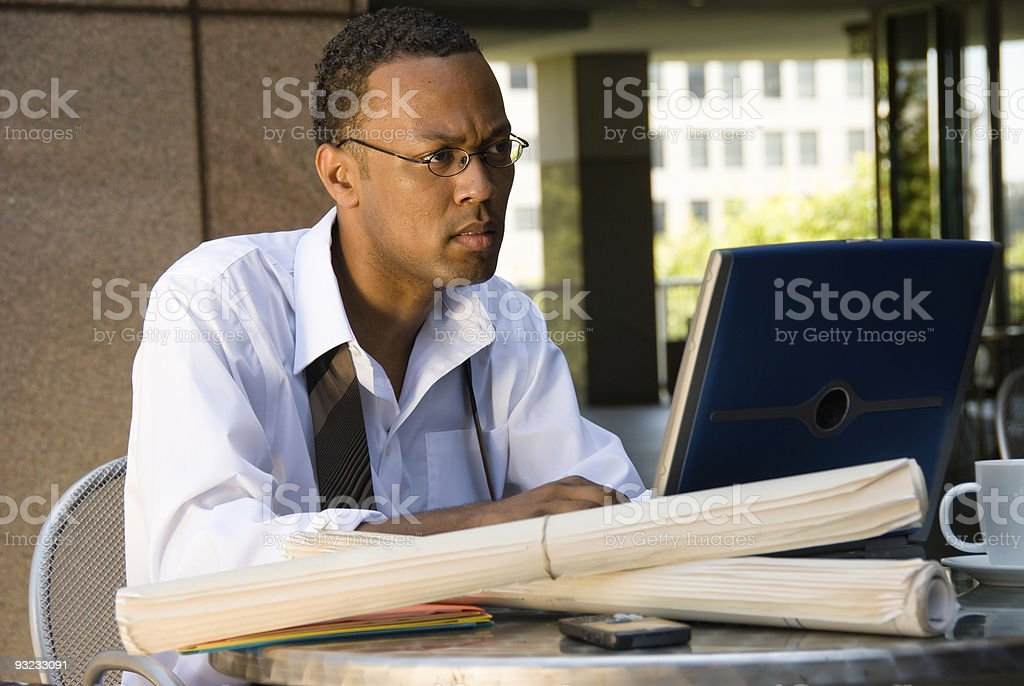African American Executive Businessman royalty-free stock photo