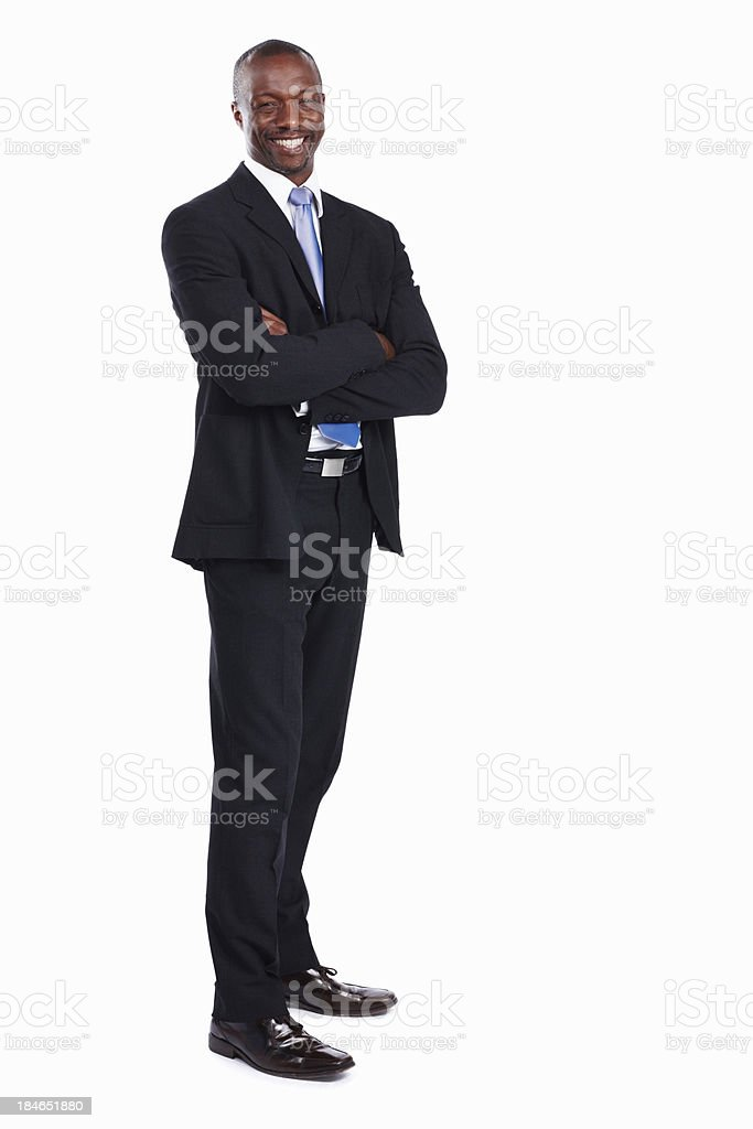 African American executive smiling stock photo