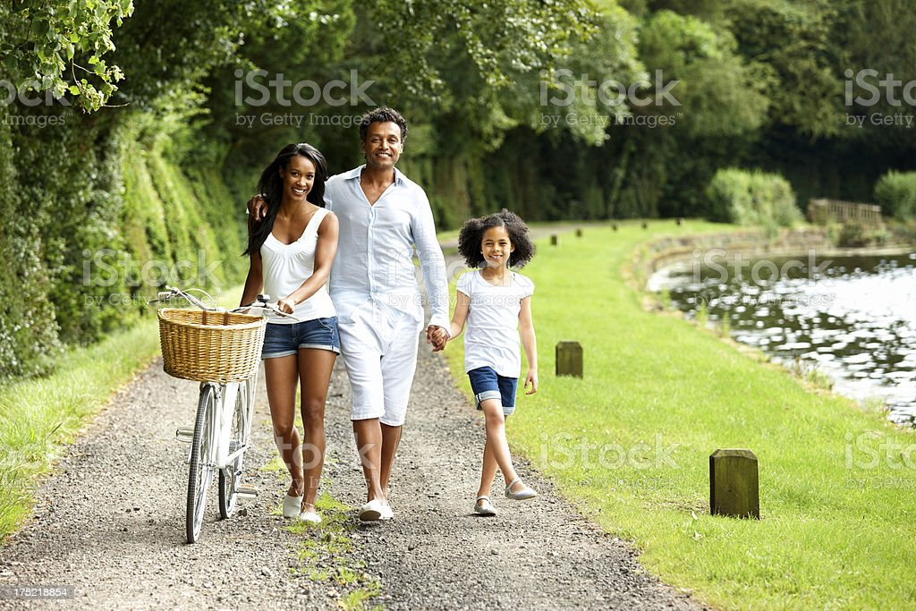 African American family enjoying holidays royalty-free stock photo