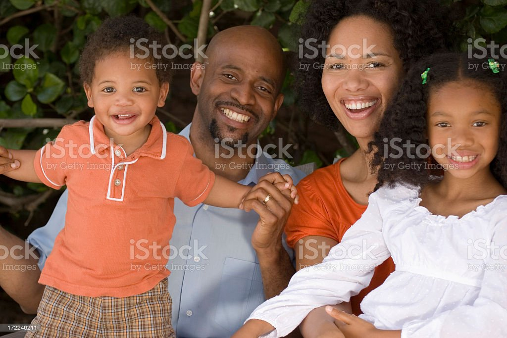 African American family royalty-free stock photo
