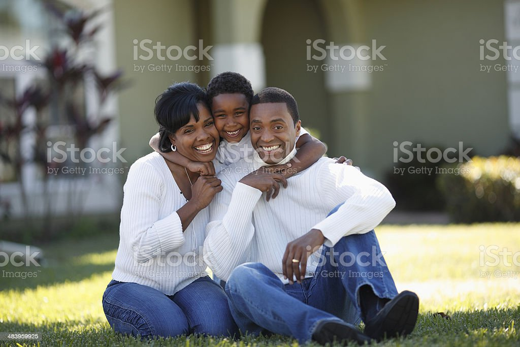 African American Family Portrait royalty-free stock photo
