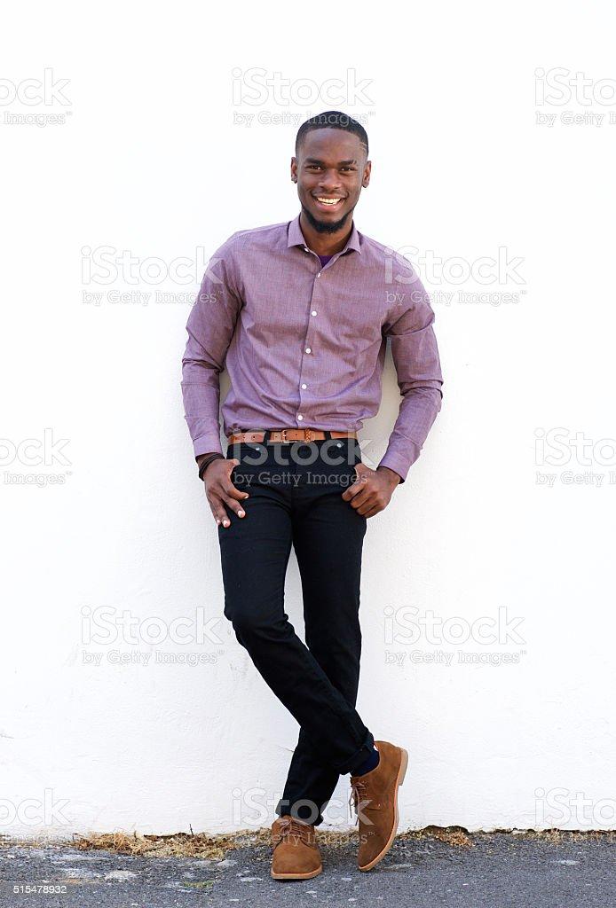 African american fashion model posing stock photo