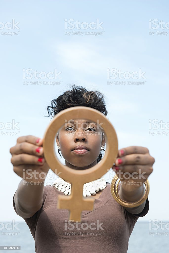 African American Female Power royalty-free stock photo