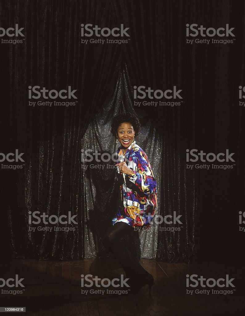 African American female singer comedian stock photo
