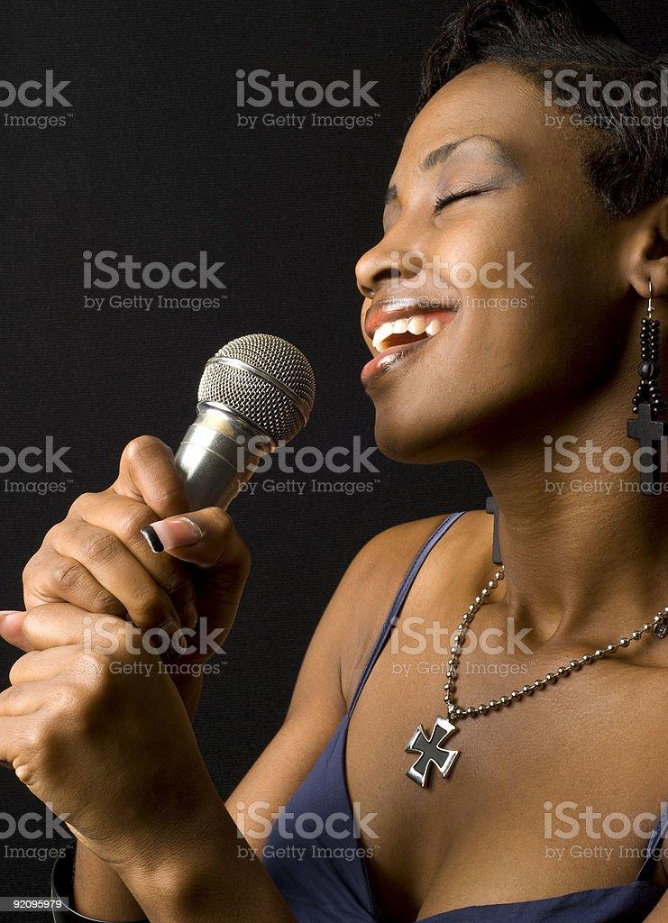 African American Female Singer stock photo