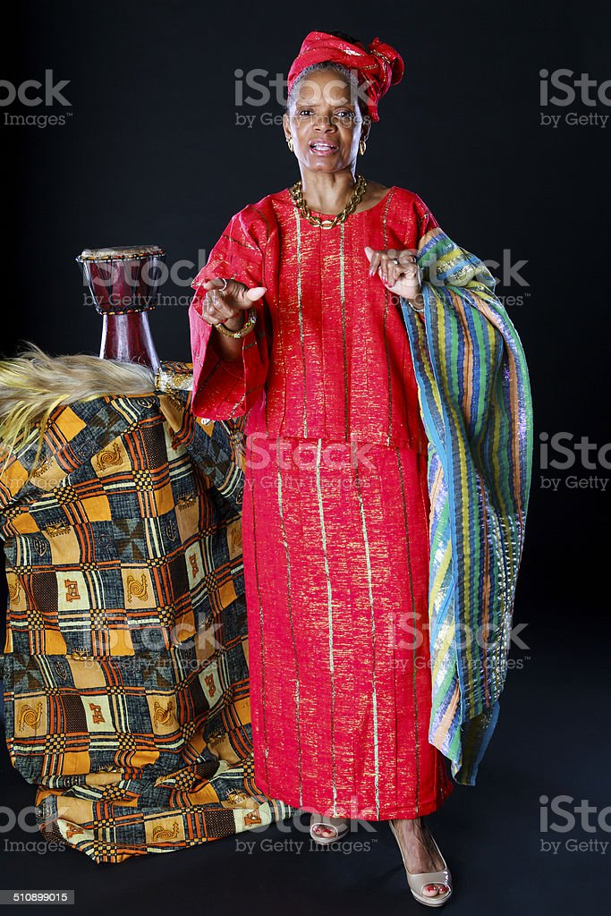 African American Female Storyteller stock photo