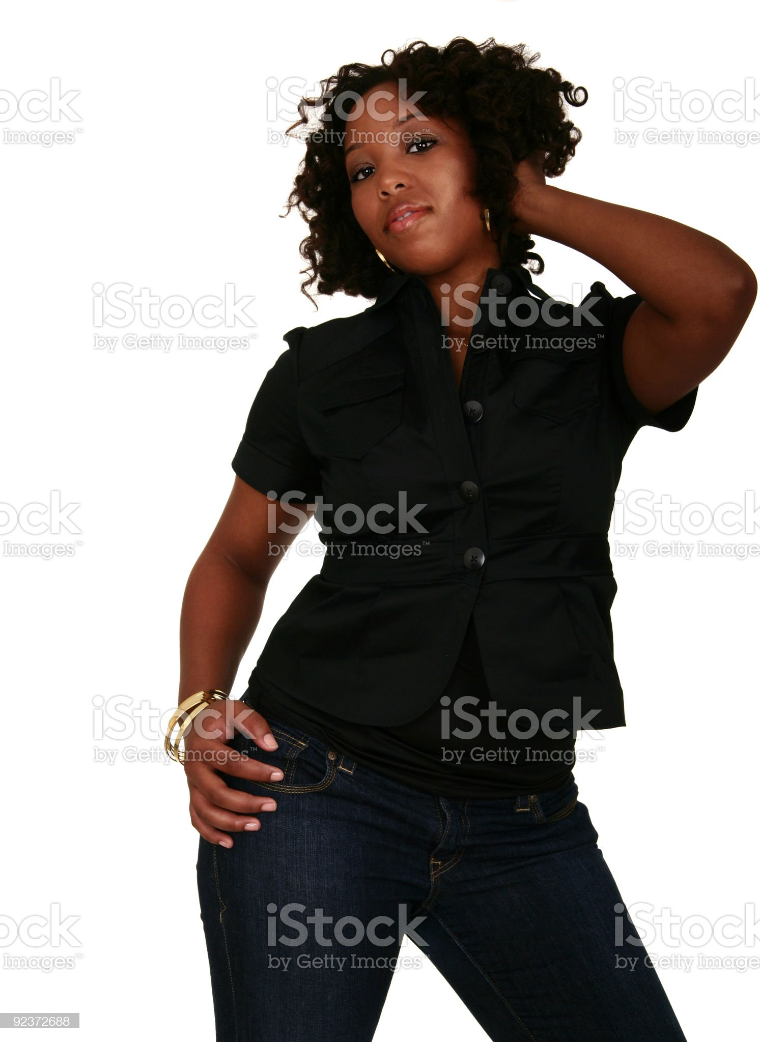 African American Girl Beauty Shot 2 royalty-free stock photo
