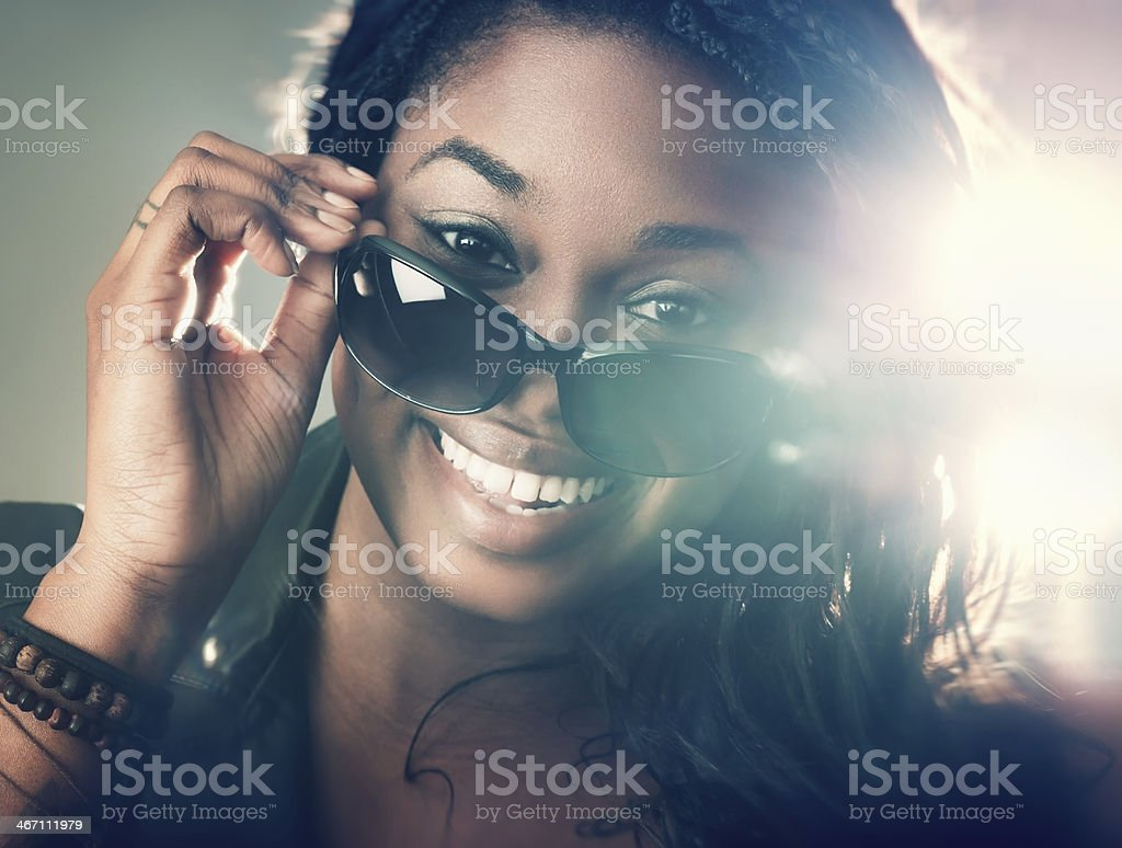 African American Girl stock photo