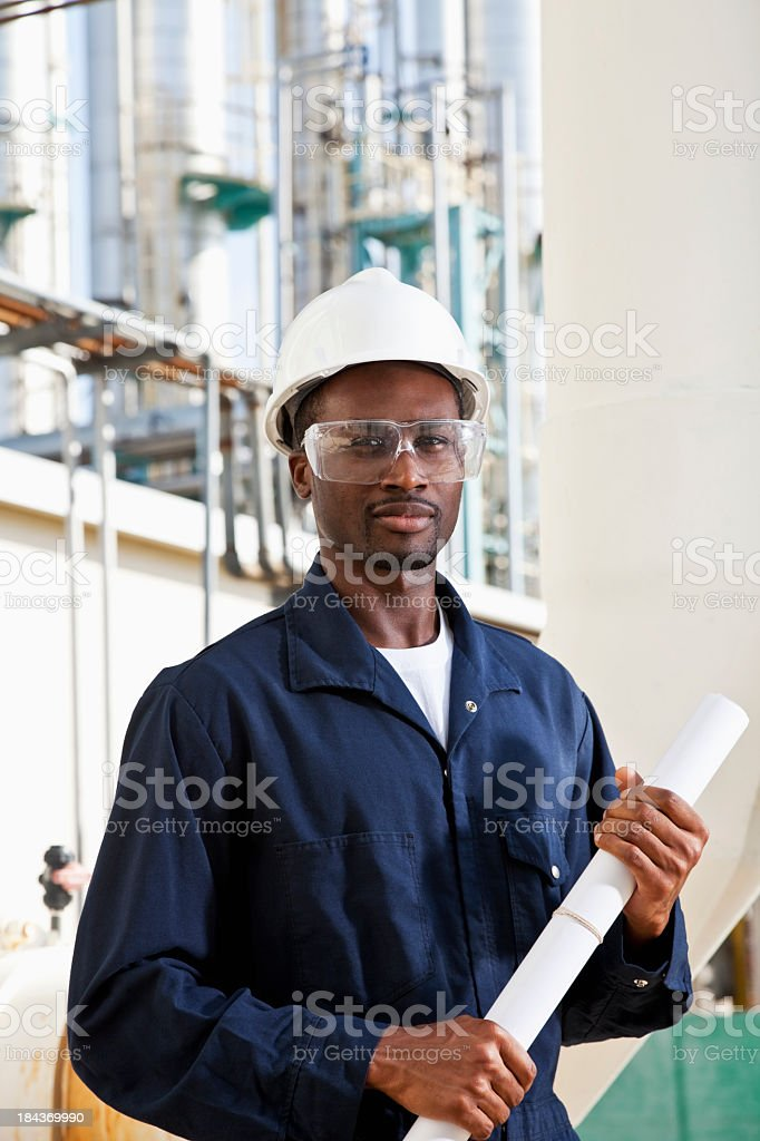 African American industrial worker royalty-free stock photo