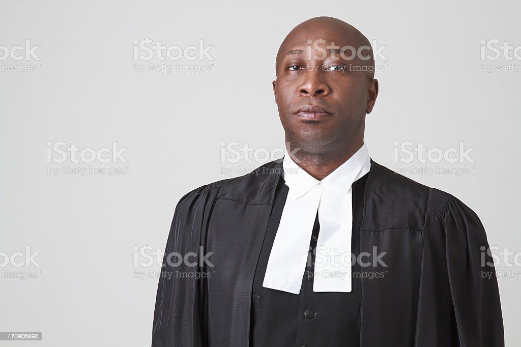 African american judge stock photo