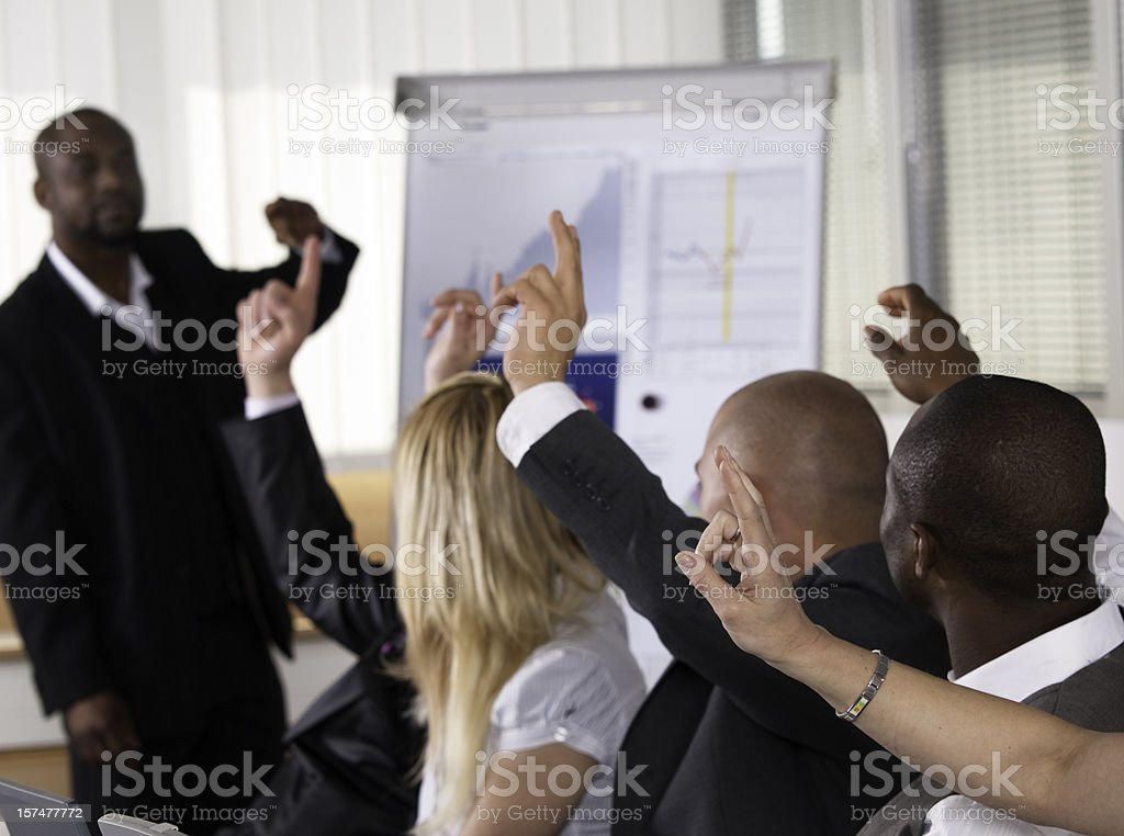 African american lecturer in front of his class royalty-free stock photo