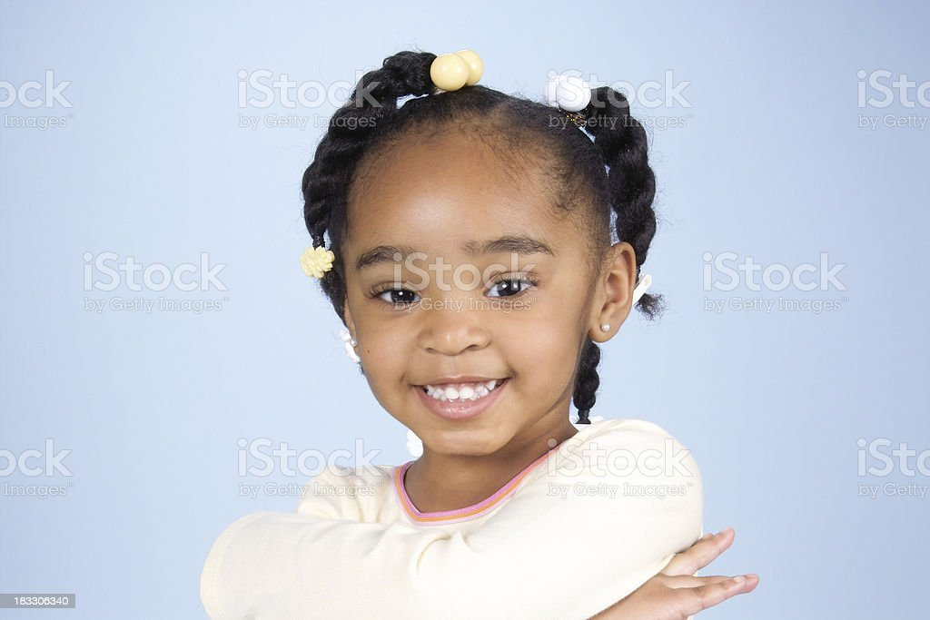 African American Little Girl stock photo